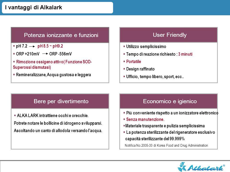 I vantaggi di Alkalark Potenza ionizzante e funzioni User Friendly Bere per divertimento Economico e igienico ALKA LARK intrattiene occhi e orecchie.