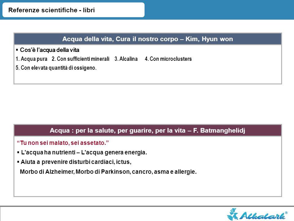 Alkalark, Acqua ionizzata affidabile Approvato KFDA Registrato CEE Sviluppato dal Dr.