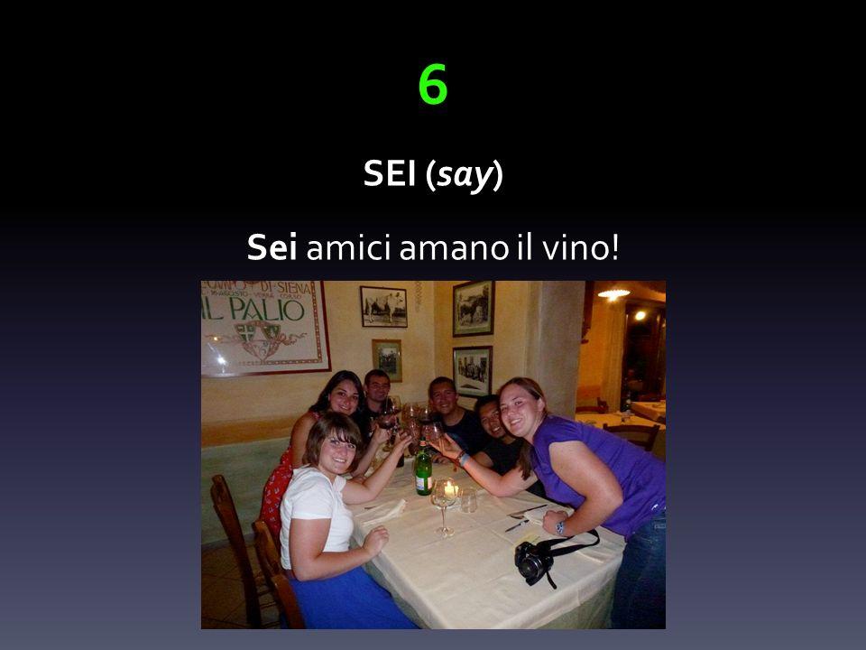 6 SEI (say) Sei amici amano il vino!
