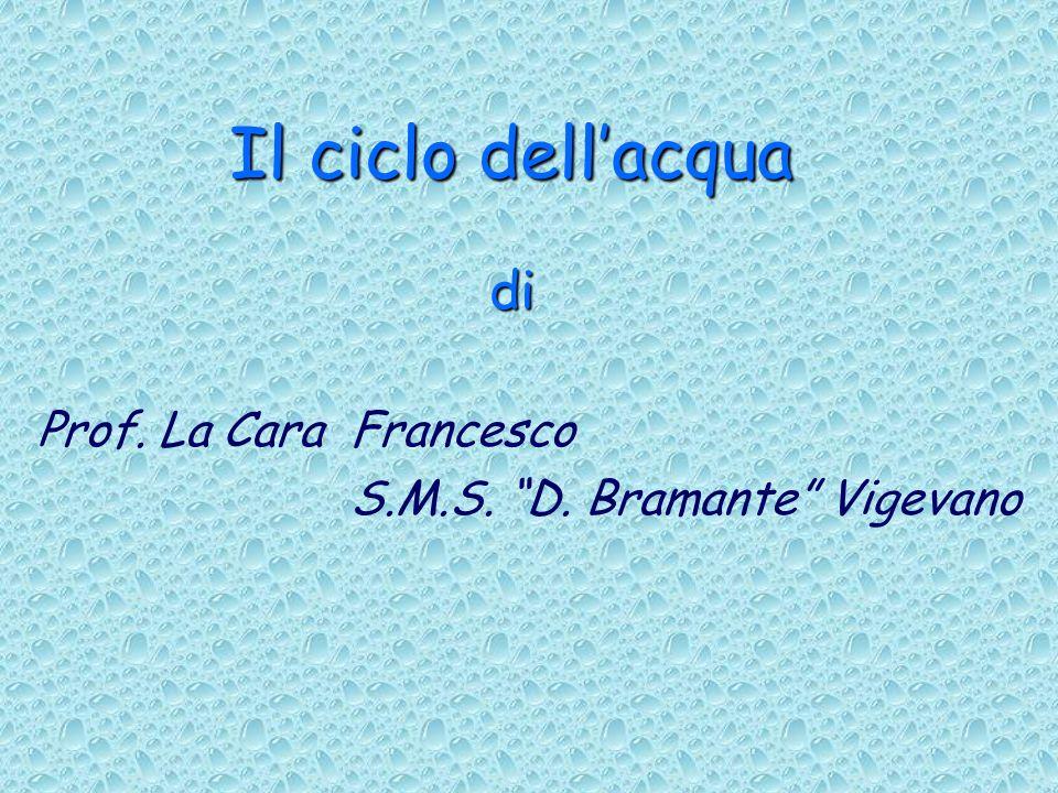 Il ciclo dellacqua di Prof. La Cara Francesco S.M.S. D. Bramante Vigevano