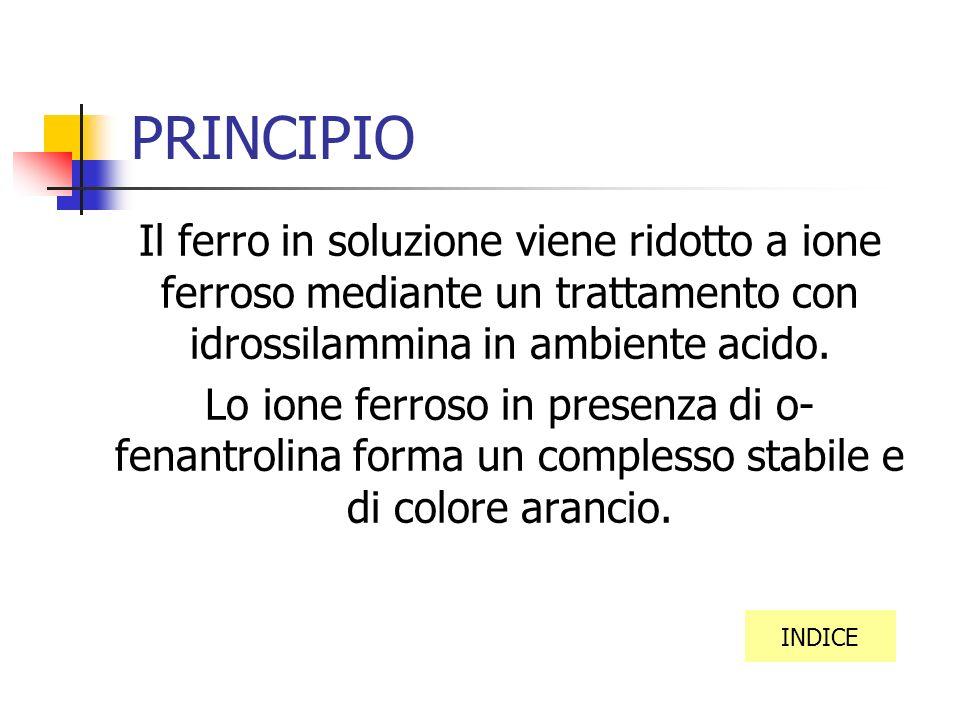 INDICE PRINCIPIO MATERIALE UTILIZZATO PROCEDIMENTO CALCOLI TABELLE E GRAFICI CONCLUSIONI