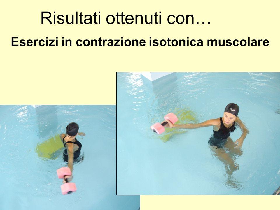 Esercizi in contrazione isotonica muscolare Risultati ottenuti con…