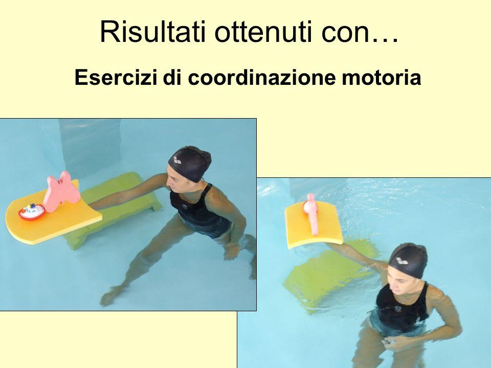 Esercizi di coordinazione motoria Risultati ottenuti con…