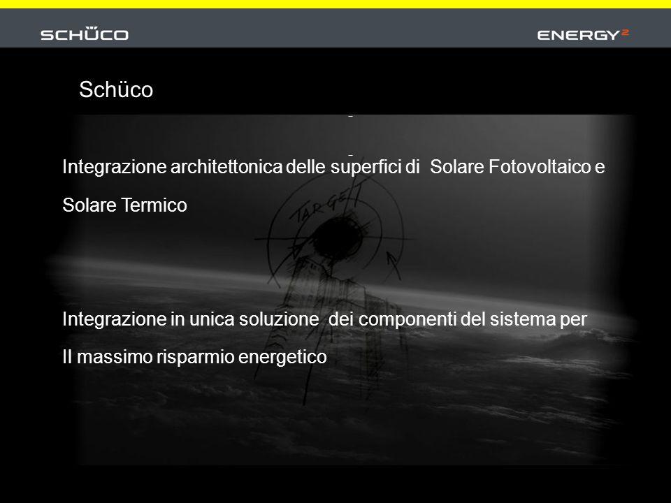 Integrazione architettonica delle superfici di Solare Fotovoltaico e Solare Termico Integrazione in unica soluzione dei componenti del sistema per Il