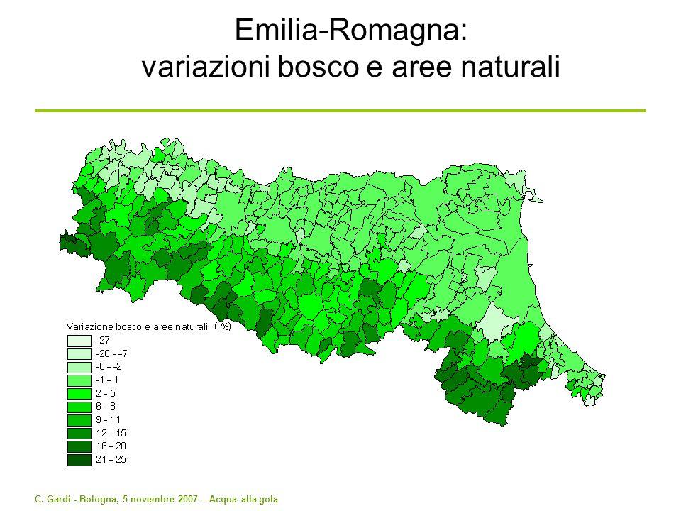 C. Gardi - Bologna, 5 novembre 2007 – Acqua alla gola Emilia-Romagna: variazioni bosco e aree naturali