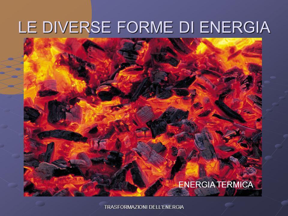 TRASFORMAZIONI DELLENERGIA LE DIVERSE FORME DI ENERGIA ENERGIA MUSCOLARE