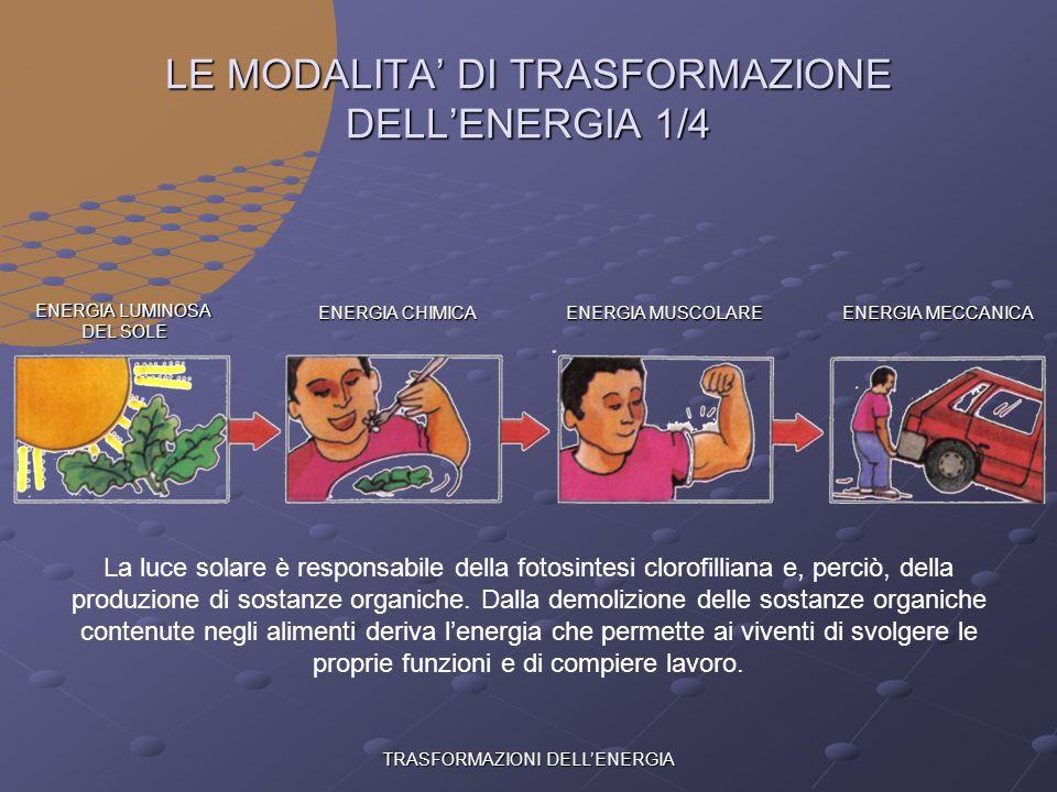 TRASFORMAZIONI DELLENERGIA LE DIVERSE FORME DI ENERGIA E=mc 2 ENERGIA NUCLEARE