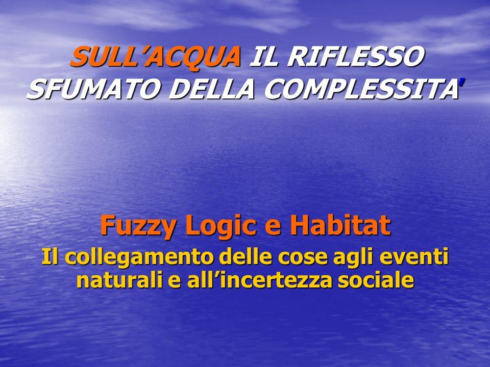 SULLACQUA IL RIFLESSO SFUMATO DELLA COMPLESSITA Fuzzy Logic e Habitat Il collegamento delle cose agli eventi naturali e allincertezza sociale