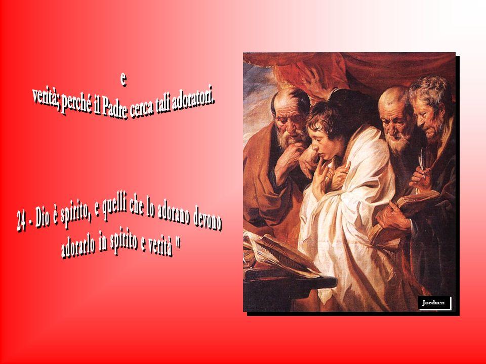 Tintoretto Ma Gesù le rispose: Marta, Marta, tu ti preoccupi e ti agiti per molte cose, ma una sola è la cosa di cui cè bisogno, Maria si è scelta la parte migliore, Che non le sarà tolta.