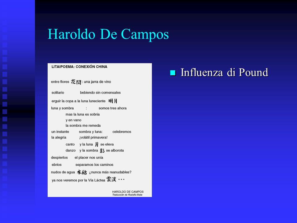 Haroldo De Campos Influenza di Pound Influenza di Pound