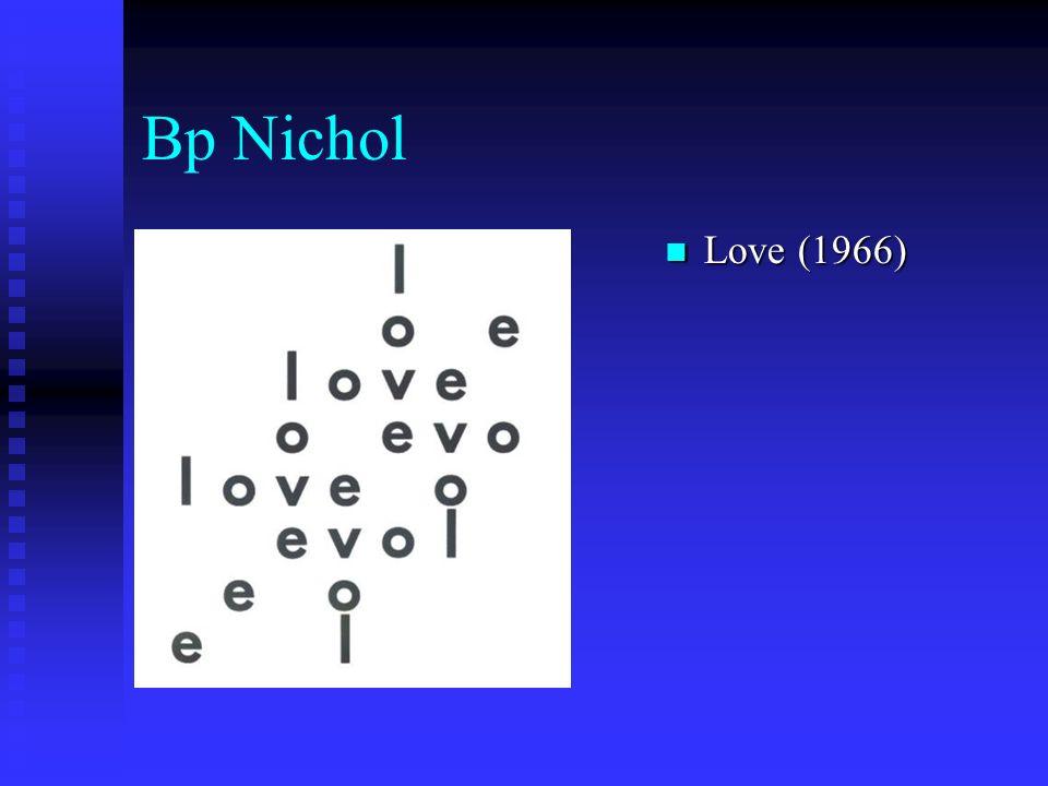 Bp Nichol Love (1966) Love (1966)