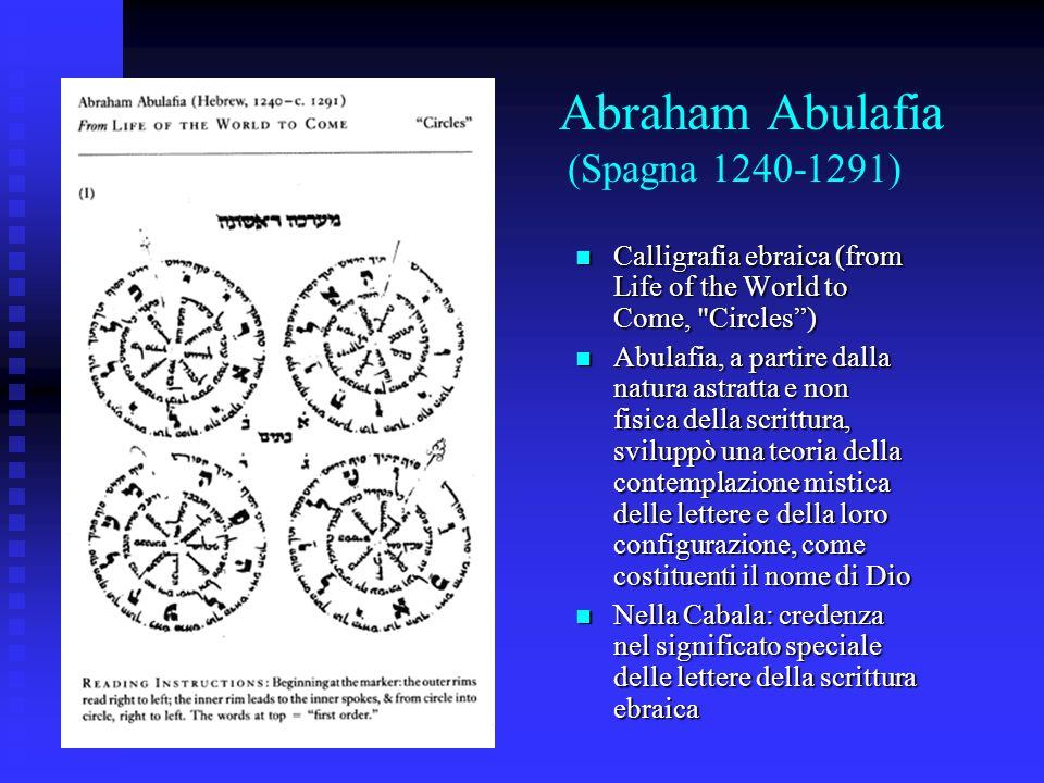 Abraham Abulafia (Spagna 1240-1291) Calligrafia ebraica (from Life of the World to Come,