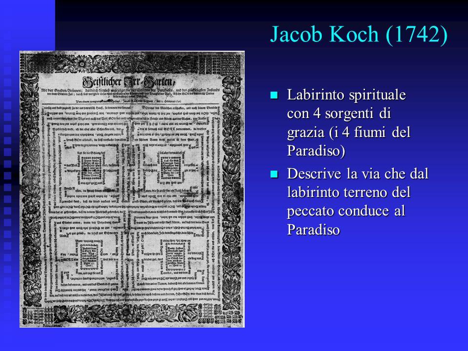 Jacob Koch (1742) Labirinto spirituale con 4 sorgenti di grazia (i 4 fiumi del Paradiso) Labirinto spirituale con 4 sorgenti di grazia (i 4 fiumi del