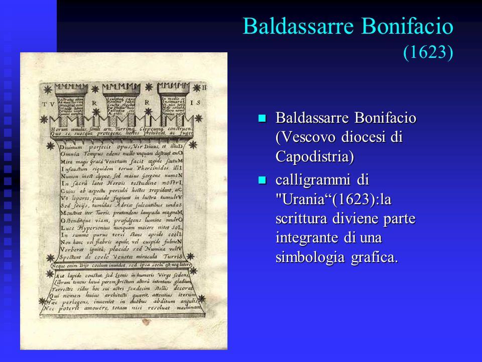 Baldassarre Bonifacio (1623) Baldassarre Bonifacio (Vescovo diocesi di Capodistria) Baldassarre Bonifacio (Vescovo diocesi di Capodistria) calligrammi