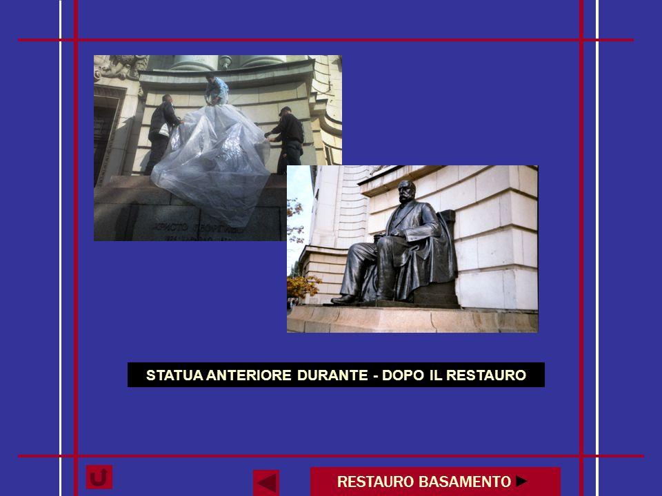 SECONDA STATUA DURANTE - DOPO IL RESTAURO