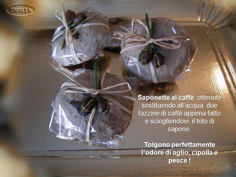 Queste sono le saponette alla mimosa confezionate con fantasia.