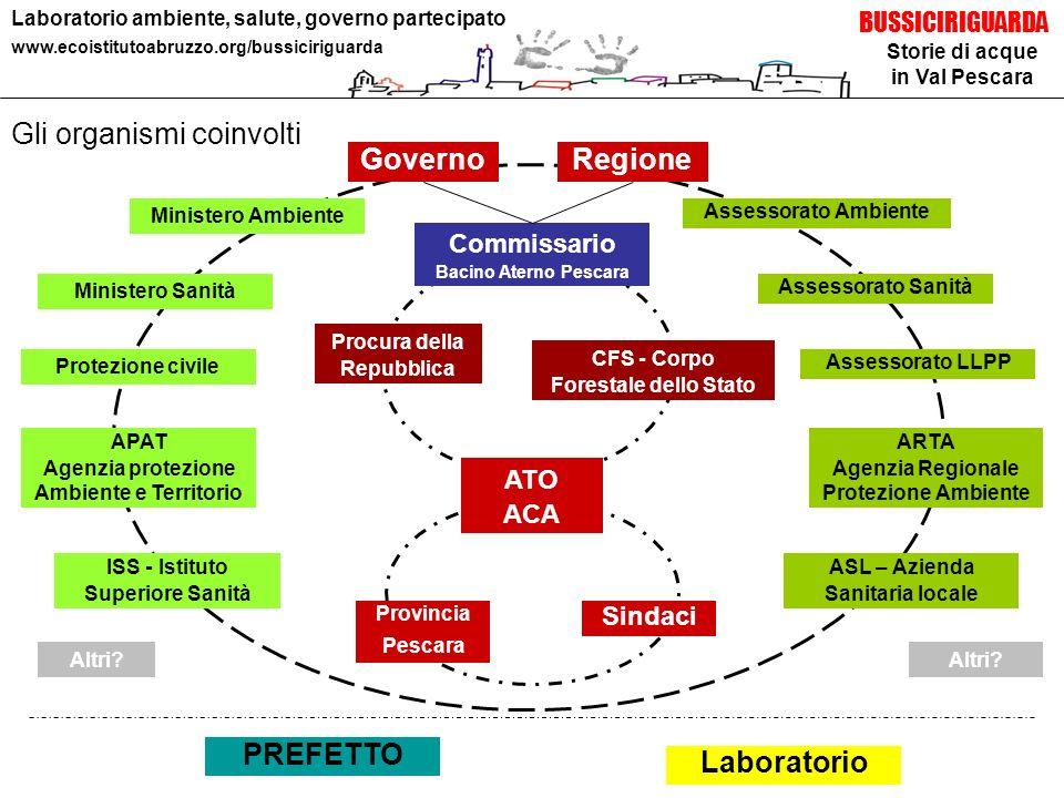 Storie di acque in Val Pescara BUSSICIRIGUARDA Laboratorio ambiente, salute, governo partecipato www.ecoistitutoabruzzo.org/bussiciriguarda Gli organi