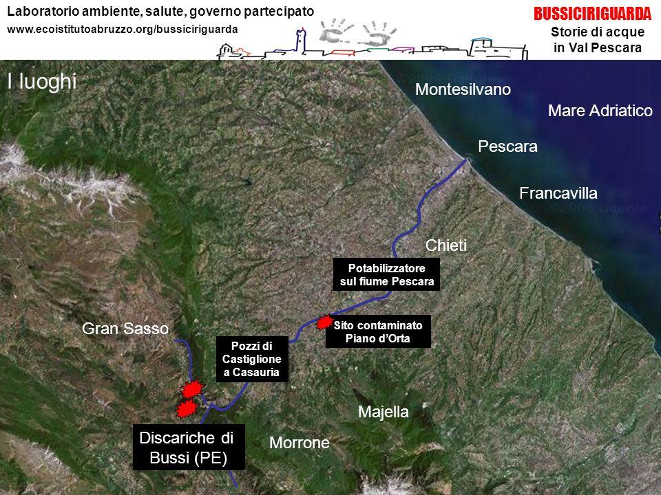 Storie di acque in Val Pescara BUSSICIRIGUARDA Laboratorio ambiente, salute, governo partecipato www.ecoistitutoabruzzo.org/bussiciriguarda Majella Mo