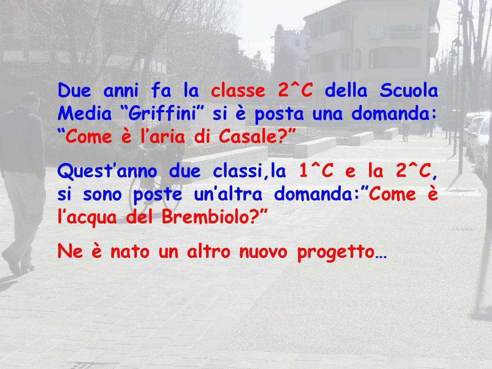 Due anni fa la classe 2^C della Scuola Media Griffini si è posta una domanda:Come è laria di Casale? Questanno due classi,la 1^C e la 2^C, si sono pos