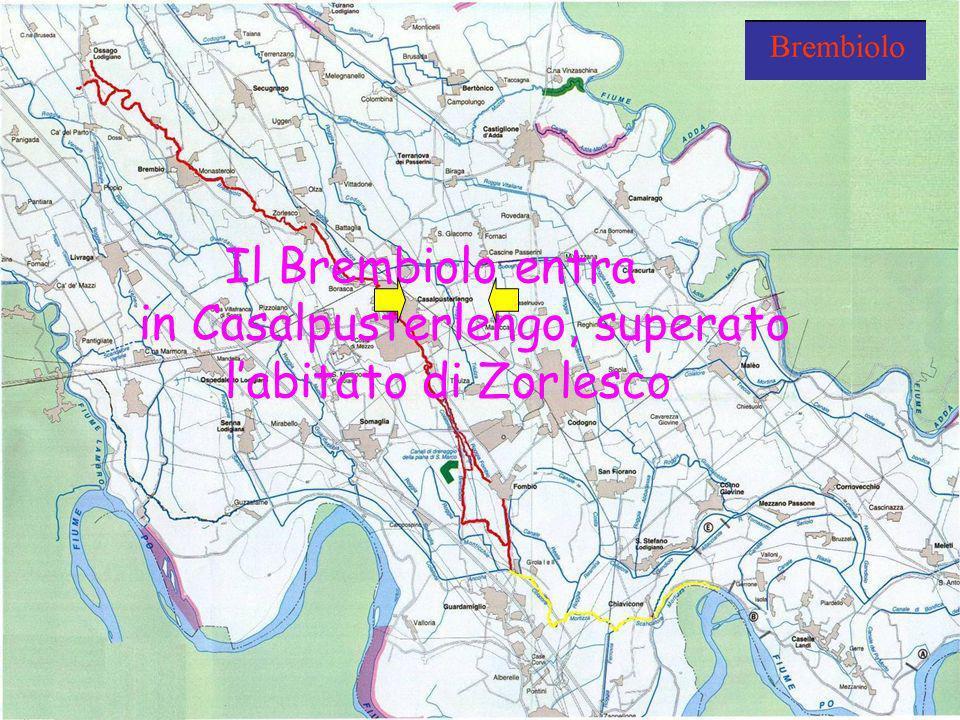 Scuola Media Griffini A.S. 2008-2009 Classi 1^C & 2^C Il Brembiolo entra in Casalpusterlengo, superato labitato di Zorlesco