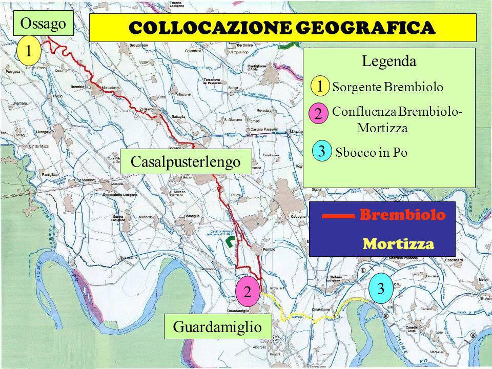Scuola Media Griffini A.S. 2008-2009 Classi 1^C & 2^C COLLOCAZIONE GEOGRAFICA Brembiolo Mortizza Legenda Sorgente Brembiolo Confluenza Brembiolo- Mort