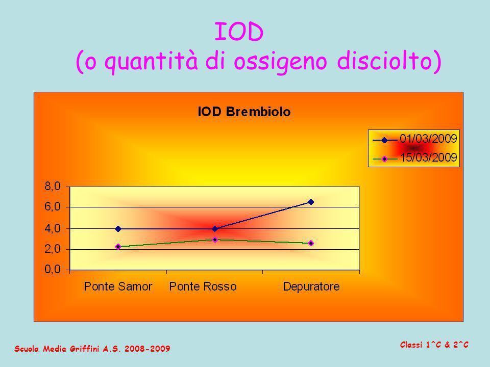 Scuola Media Griffini A.S. 2008-2009 Classi 1^C & 2^C IOD (o quantità di ossigeno disciolto)