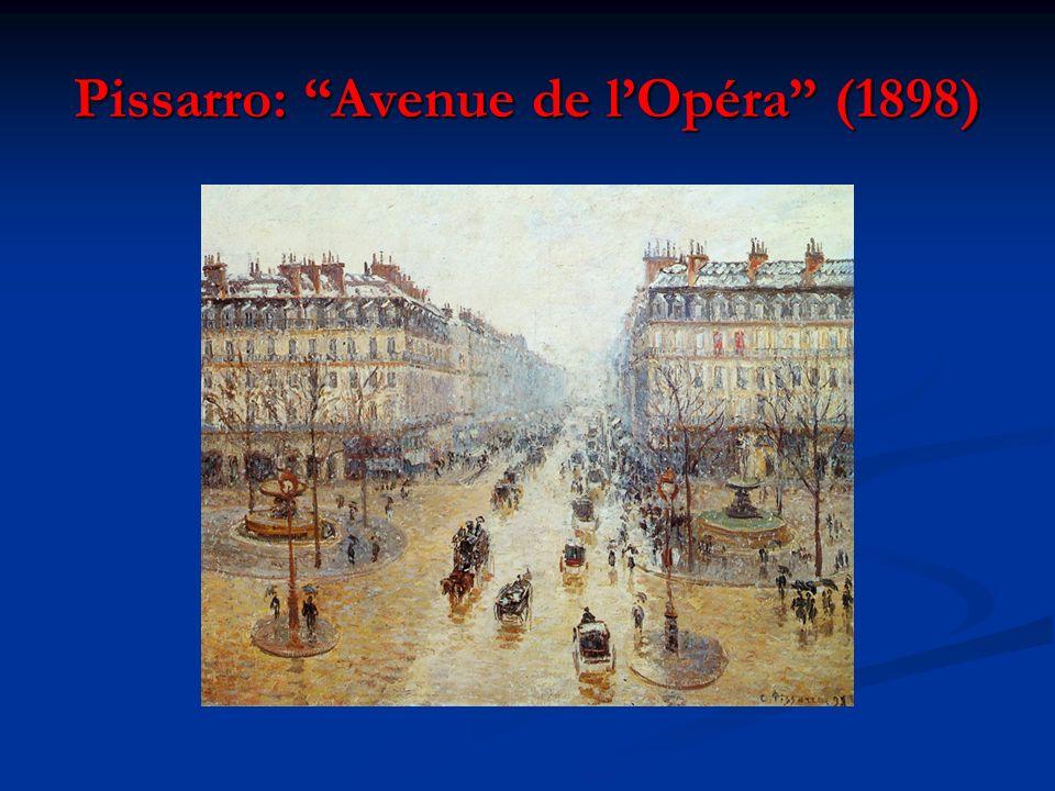 Pissarro: Avenue de lOpéra (1898)