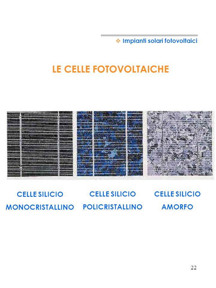 DA COSA E COMPOSTO UN PANNELLO FOTOVOLTAICO 1) LE CELLE FOTOVOLTAICHE Le celle fotovoltaiche consentono di trasformare la radiazione solare in energia