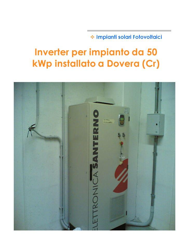 Impianto da 50 kWp installato a Dovera (Cr) Impianti solari Fotovoltaici