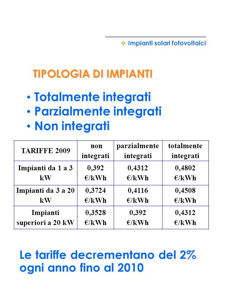 Potranno beneficiare dellincentivo gli impianti di potenza superiore a 1kWp Potenza massima cumulativa di tutti gli impianti in Italia finanziabile: 1
