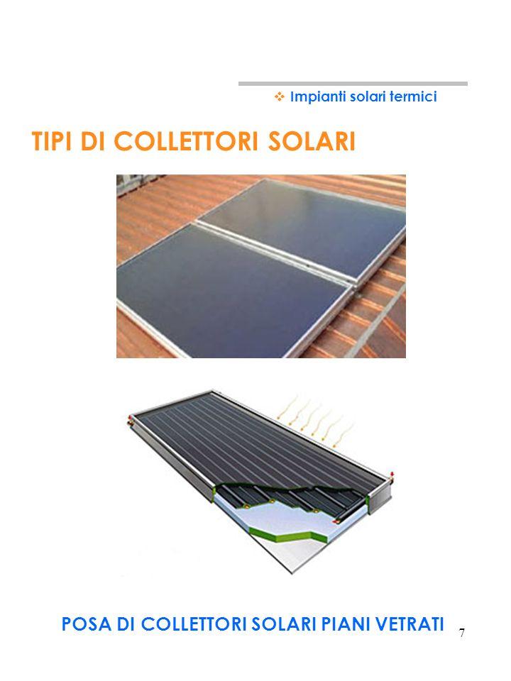 6 La piastra captante è realizzata con materiali buoni conduttori di calore (rame, alluminio, acciaio). Per incrementare la quantità di energia solare