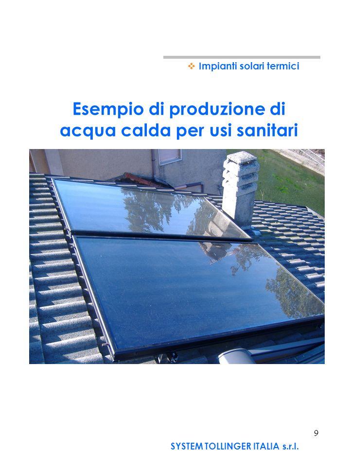 Impianti solari fotovoltaici IMPIANTO A COSTO ZERO DI PROPRIETA DI SYSTEM TOLLINGER SYSTEM TOLLINGER ALLARGA ANCHE AI PRIVATI LINIZIATIVA ATTIVATA CON I COMUNI DI AGENDA21: (proposta ancora in fase di definizione) - System Tollinger installa limpianto fotovoltaico sulle abitazioni dei privati che prestano il proprio tetto - Limpianto è di proprietà di System Tollinger, che cede una quota dellenergia elettrica al privato, il quale riduce (o addirittura azzera) il costo della bolletta Enel - In cambio System Tollinger trattiene lincentivo GSE per 20 anni a rimborso dellinstallazione eseguita.
