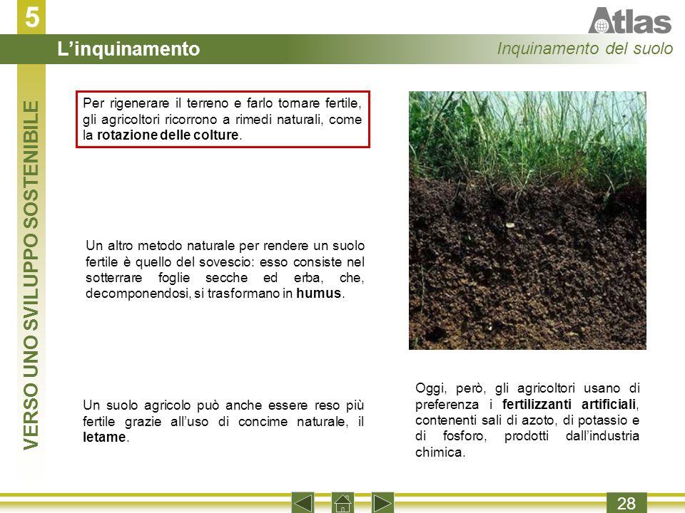 5 28 Per rigenerare il terreno e farlo tornare fertile, gli agricoltori ricorrono a rimedi naturali, come la rotazione delle colture.