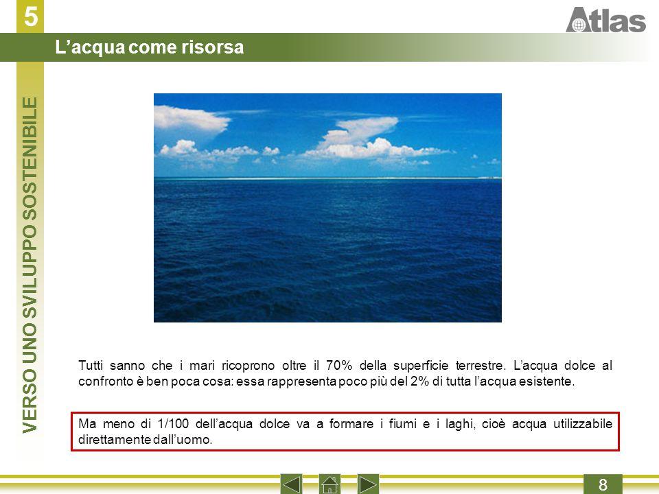 5 8 Tutti sanno che i mari ricoprono oltre il 70% della superficie terrestre.