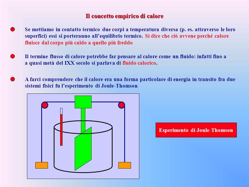 Se mettiamo in contatto termico due corpi a temperatura diversa (p.