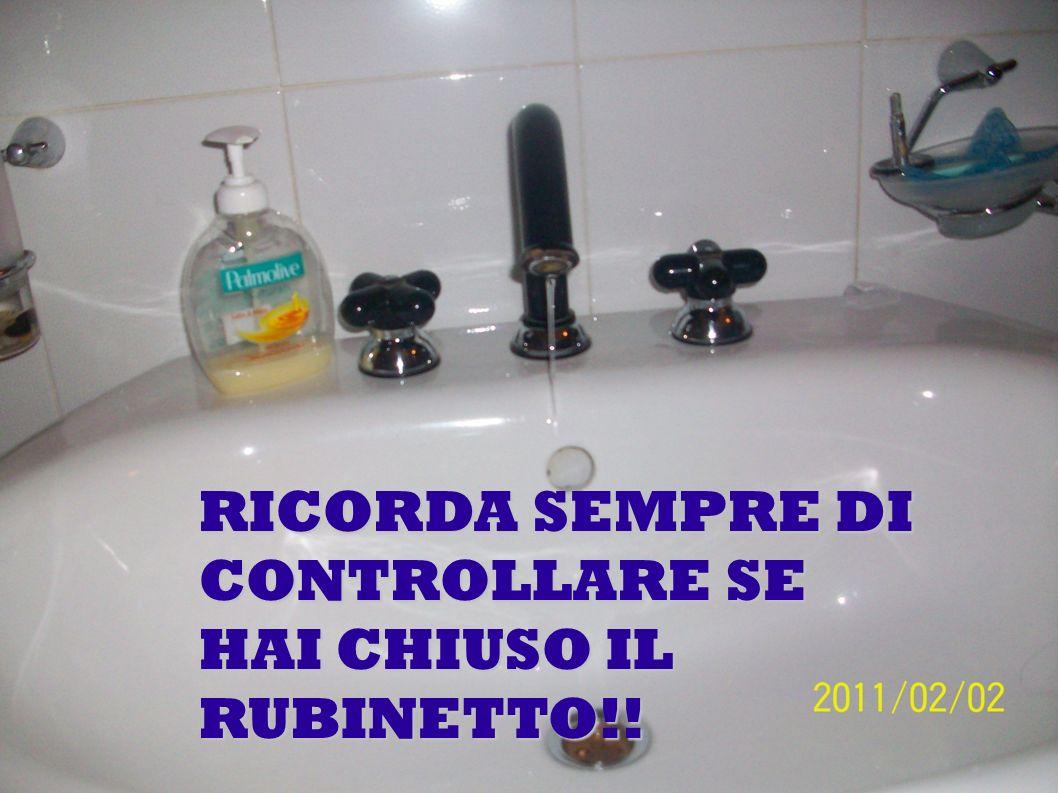 RICORDA SEMPRE DI CONTROLLARE SE HAI CHIUSO IL RUBINETTO!!