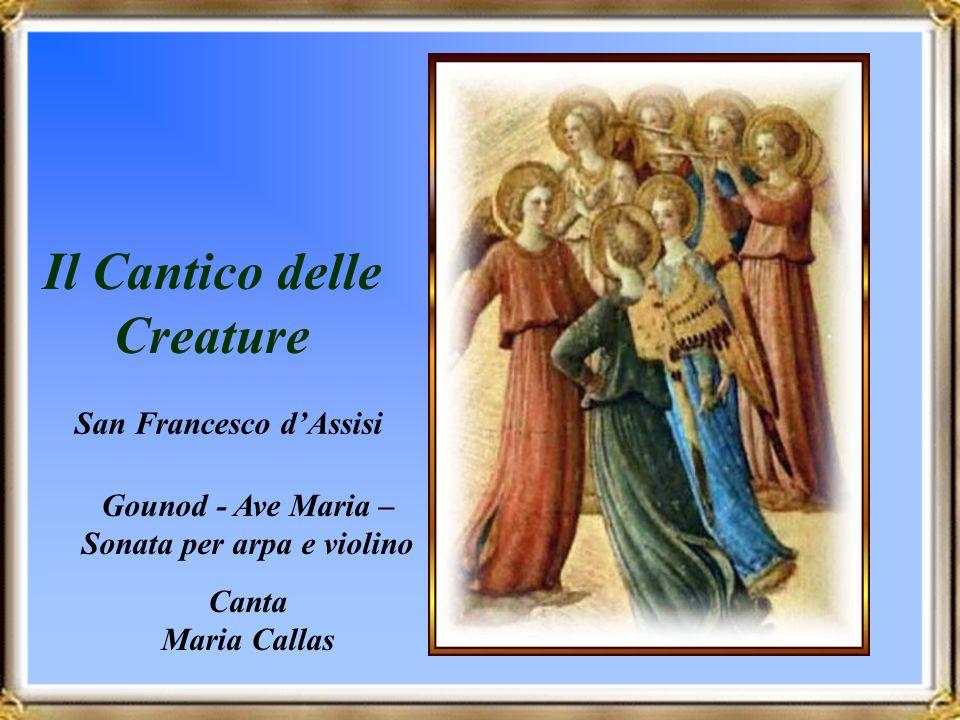 Il Cantico delle Creature San Francesco dAssisi Gounod - Ave Maria – Sonata per arpa e violino Canta Maria Callas Avanzamento automatico