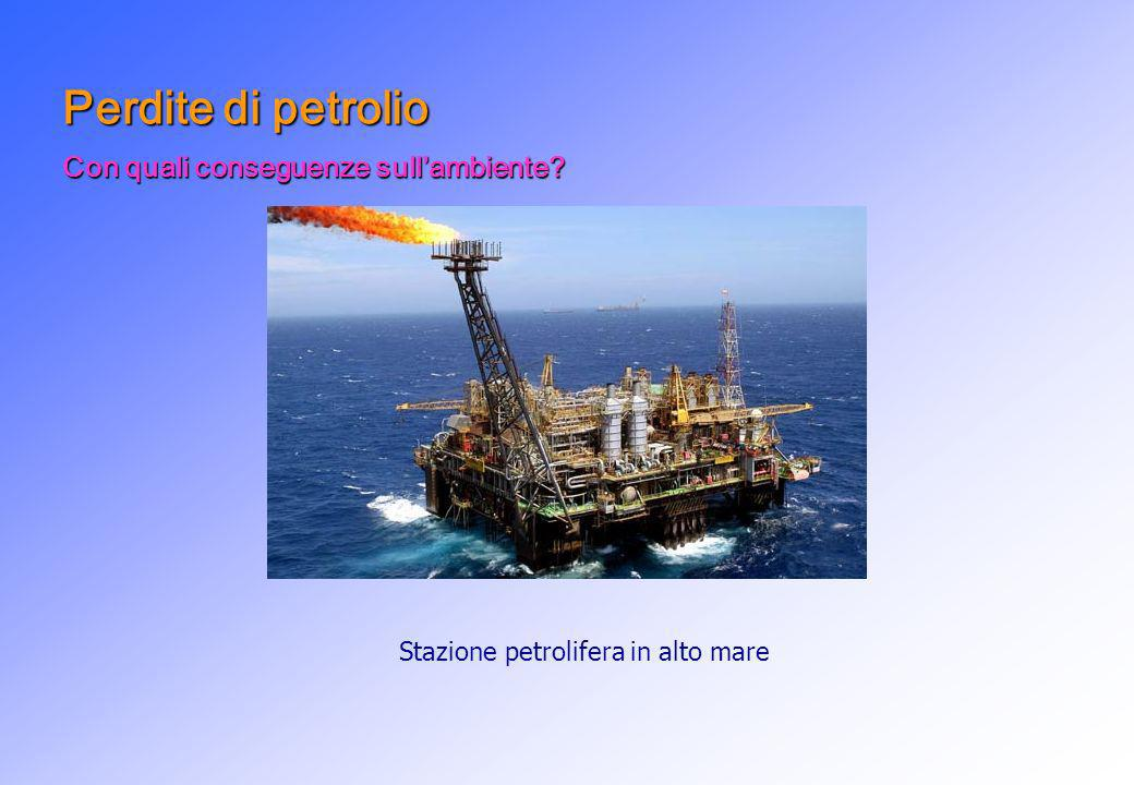 Perdite di petrolio Con quali conseguenze sullambiente? Stazione petrolifera in alto mare