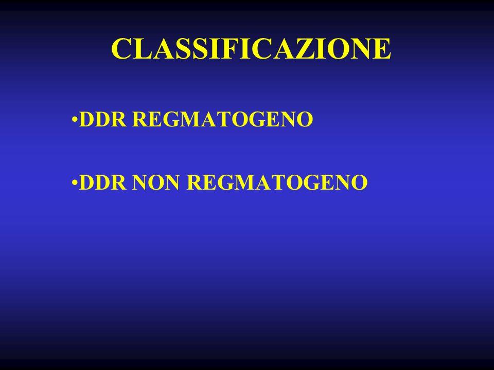 CLASSIFICAZIONE DDR REGMATOGENO DDR NON REGMATOGENO