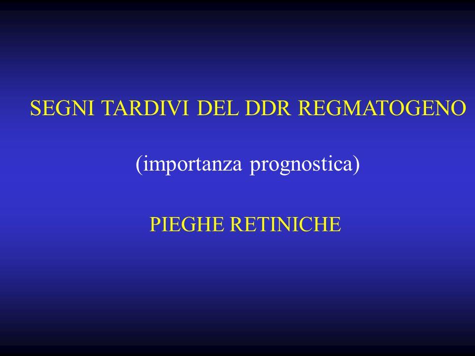 PIEGHE RETINICHE SEGNI TARDIVI DEL DDR REGMATOGENO (importanza prognostica)