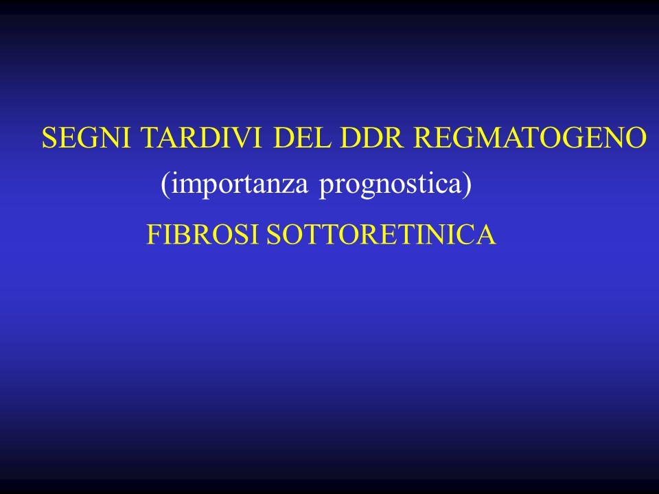 FIBROSI SOTTORETINICA (importanza prognostica) SEGNI TARDIVI DEL DDR REGMATOGENO