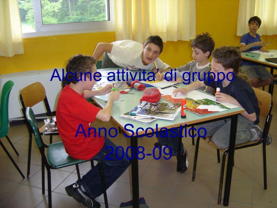 Alcune attivita di gruppo Anno Scolastico 2008-09
