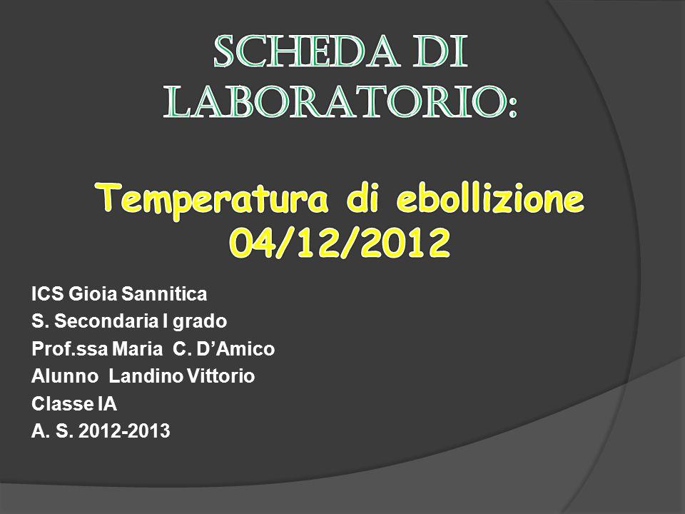 ICS Gioia Sannitica S. Secondaria I grado Prof.ssa Maria C. DAmico Alunno Landino Vittorio Classe IA A. S. 2012-2013