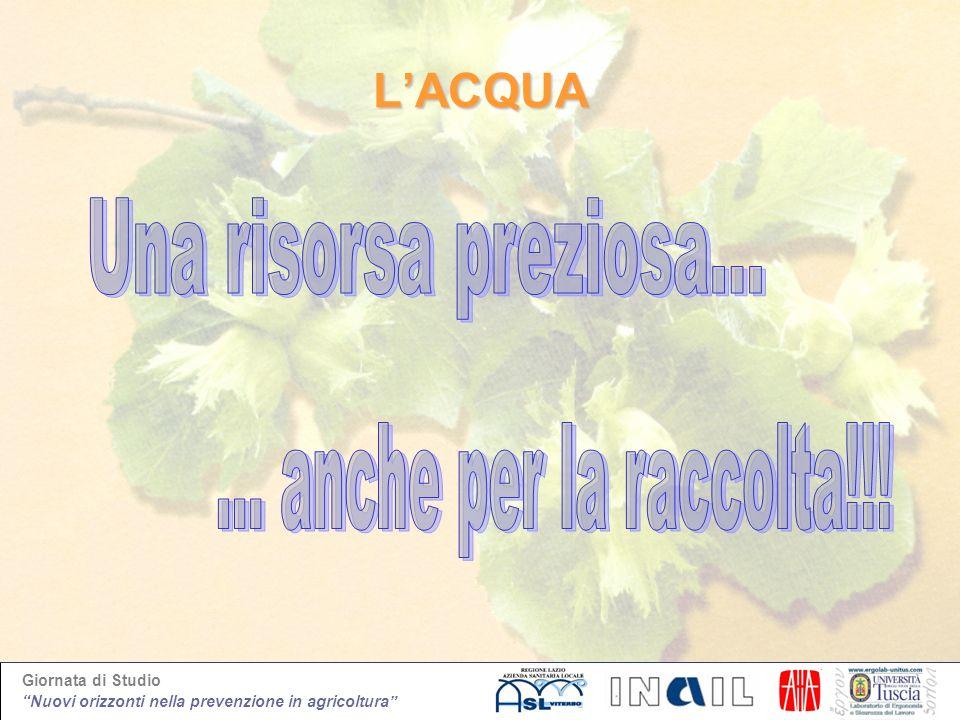 Giornata di Studio Nuovi orizzonti nella prevenzione in agricoltura LACQUA