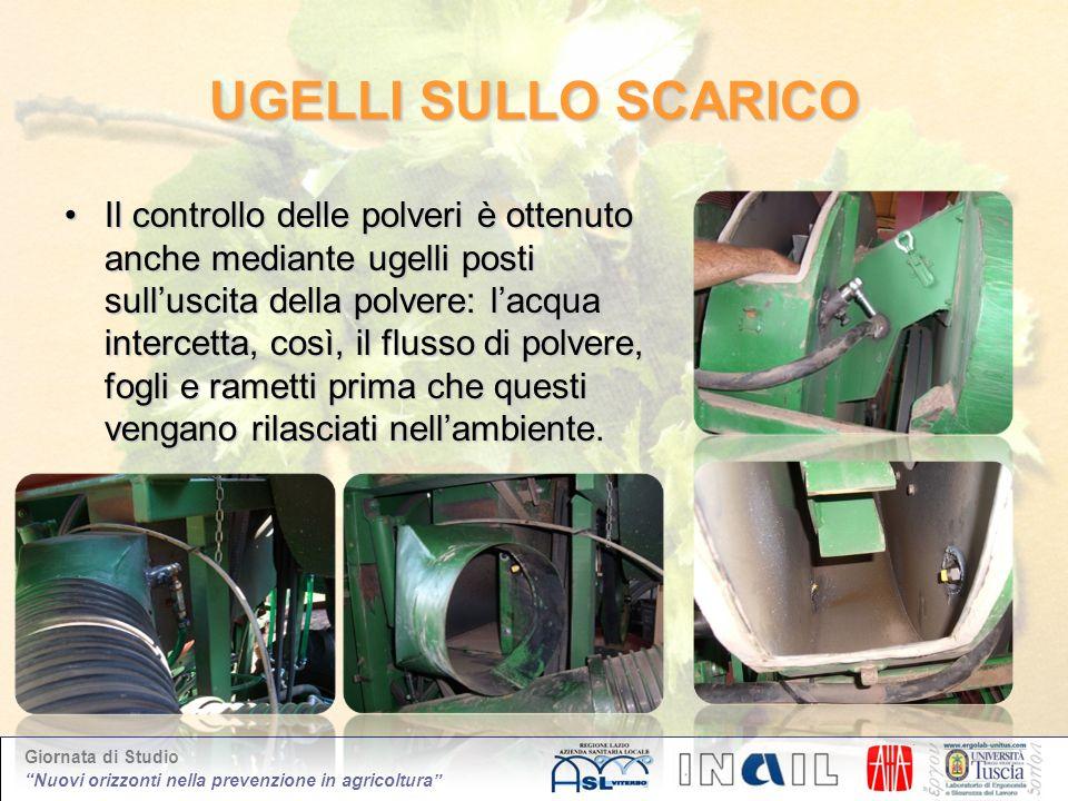 Giornata di Studio Nuovi orizzonti nella prevenzione in agricoltura UGELLI SULLO SCARICO Il controllo delle polveri è ottenuto anche mediante ugelli p