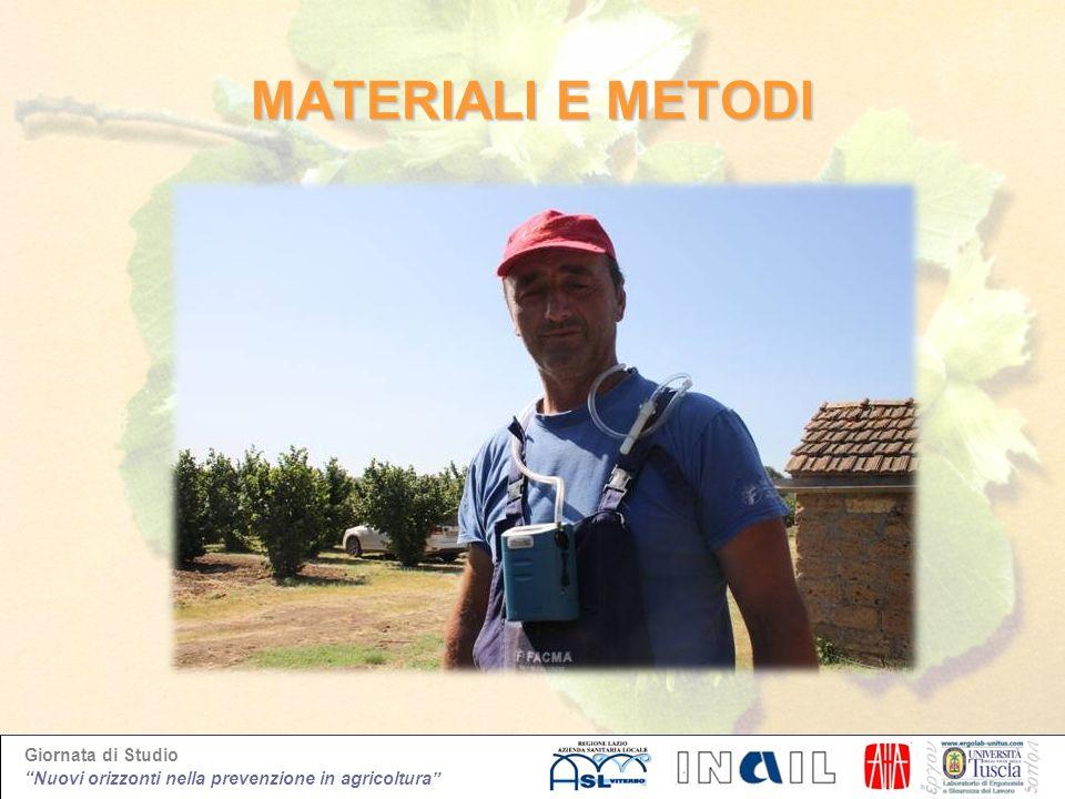 Giornata di Studio Nuovi orizzonti nella prevenzione in agricoltura MATERIALI E METODI