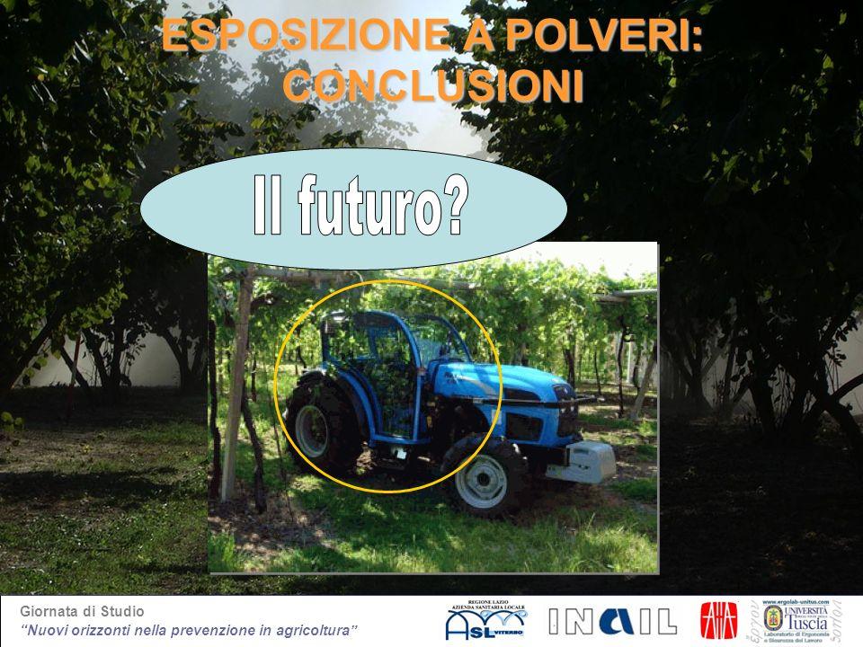 Giornata di Studio Nuovi orizzonti nella prevenzione in agricoltura ESPOSIZIONE A POLVERI: CONCLUSIONI