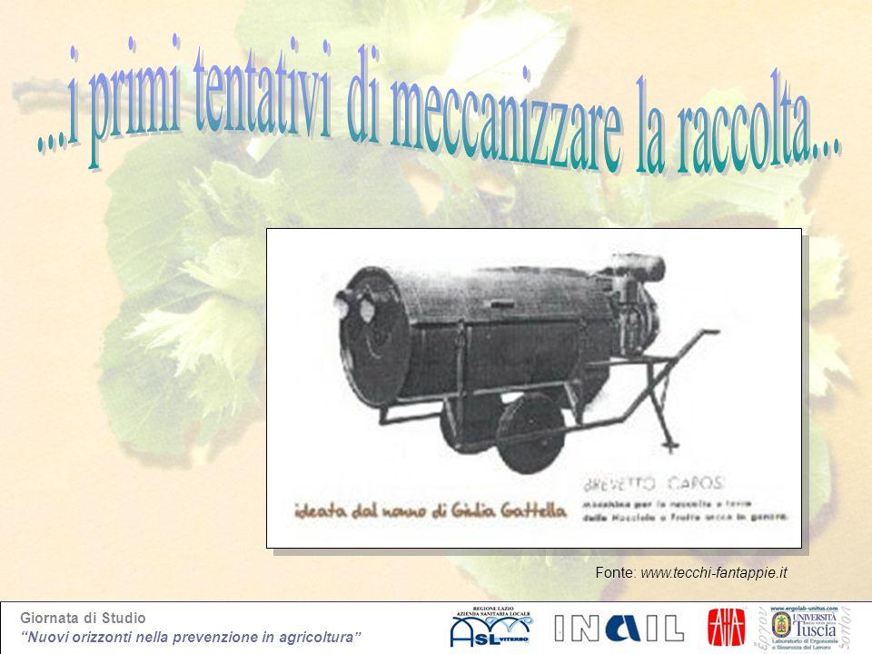 Giornata di Studio Nuovi orizzonti nella prevenzione in agricoltura Fonte: www.tecchi-fantappie.it