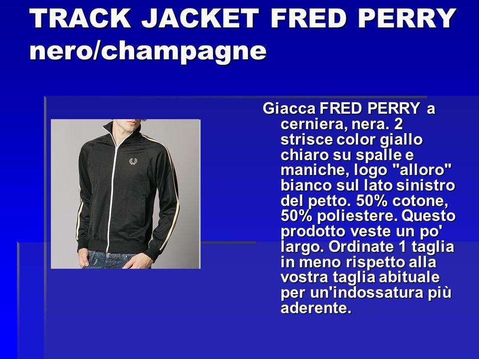 TRACK JACKET FRED PERRY nero/champagne Giacca FRED PERRY a cerniera, nera. 2 strisce color giallo chiaro su spalle e maniche, logo