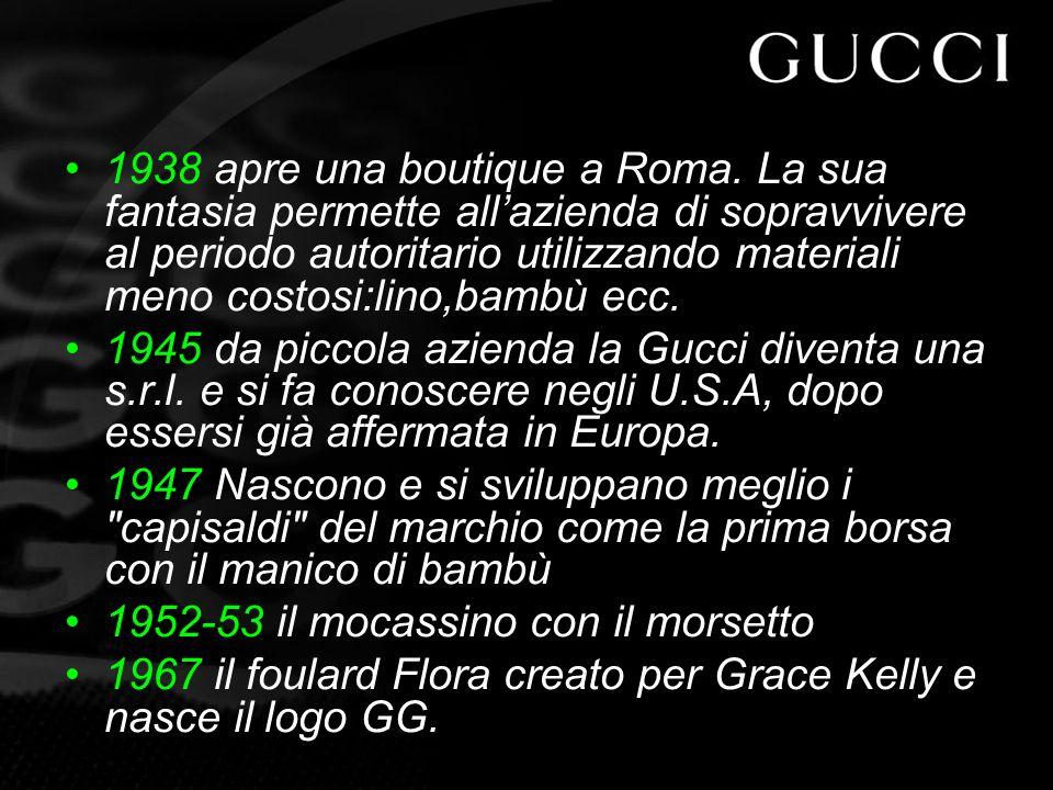 1938 apre una boutique a Roma.
